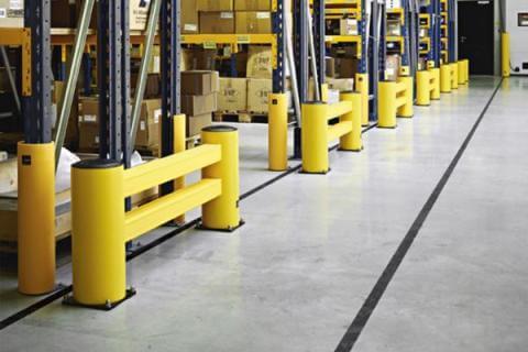 fdbf66a76fc6 Protección de estanterías para una protección óptima de almacenes